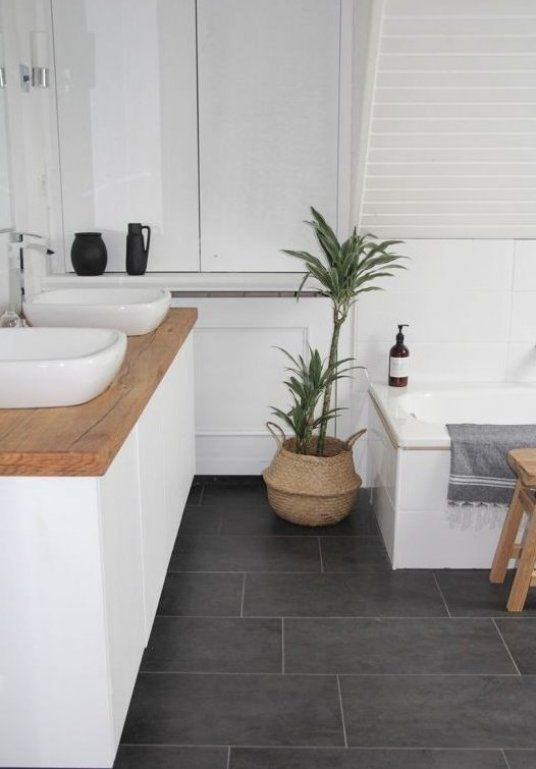 our new DIY bathroom Renovation on a budget is finished i like the combination of cold el… in ...