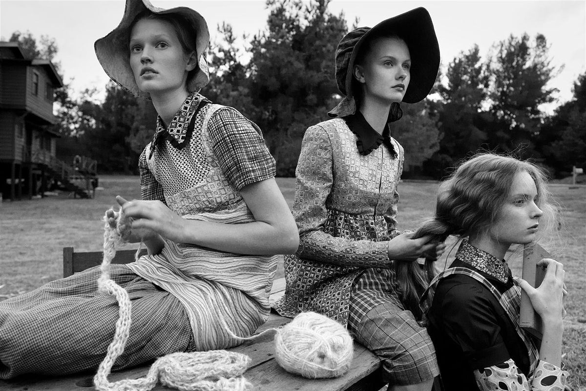 Living Green - editorial by Steven Meisel for Vogue Italia February 2008