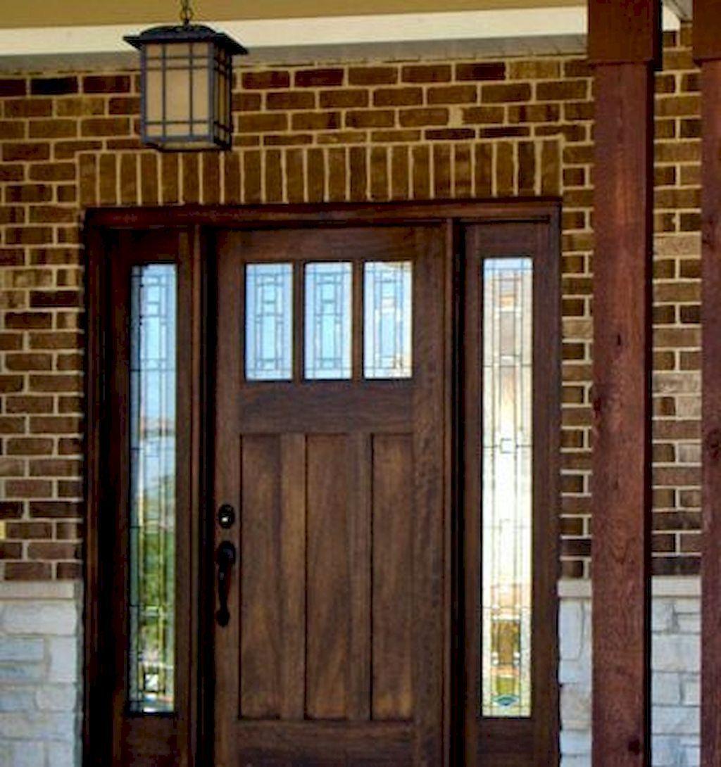 Elegant Front Door Decorating Ideas Home To Z Craftsman Front Doors Exterior Doors Stained Front Door