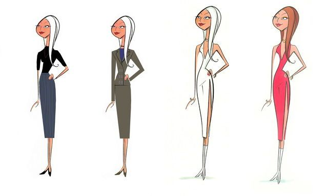 Character Designs for Pixar's The Incredibles (x)