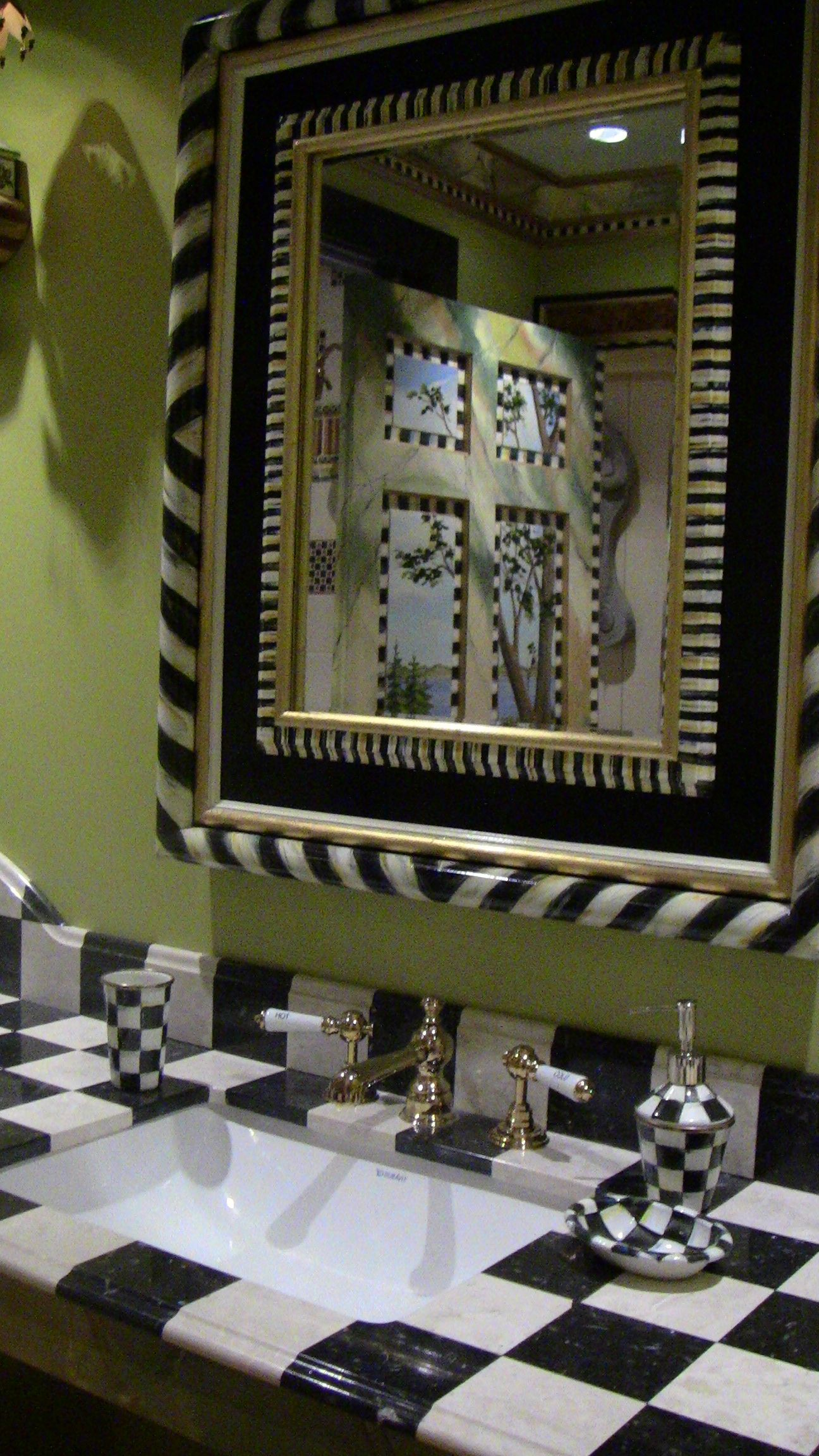 Superieur Tango Mirror In Middlebury Consignments Show Mackenzie Childs Bathroom