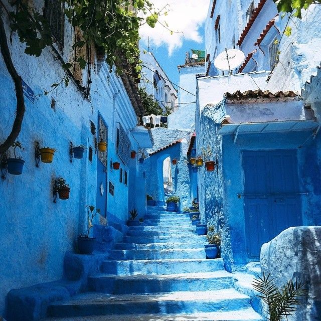 The Blue City  Chefchaouen is a city in northeastern Morocco near - fliesen f r k che