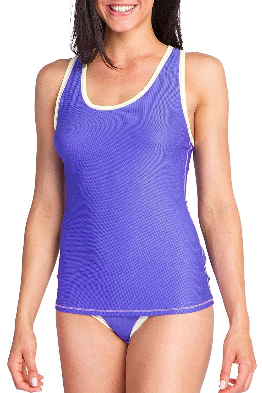 Women's Give-N-Go Sport Mesh Tank - Blue Iris - C312L1JAO2X - Sports & Fitness Clothing, Women, Base...