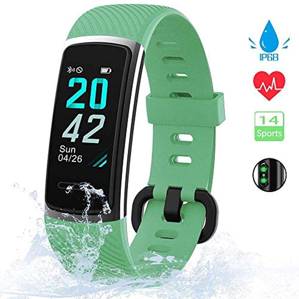 Neuestes Modell Fitness Armband Kungix Schrittzahler Uhr Ip68 Wasserdicht Smartwatch Fitness Tracker Mit Pulsmess Fitness Armband Schrittzahler Fitness Tracker