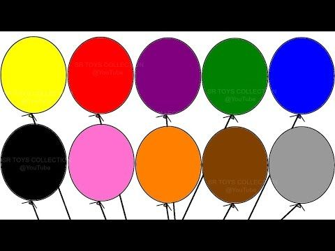 Learning Colours With Balloon Colouring Page Children S Educational Video Learning Colors Coloring Pages Coloring Pages For Kids