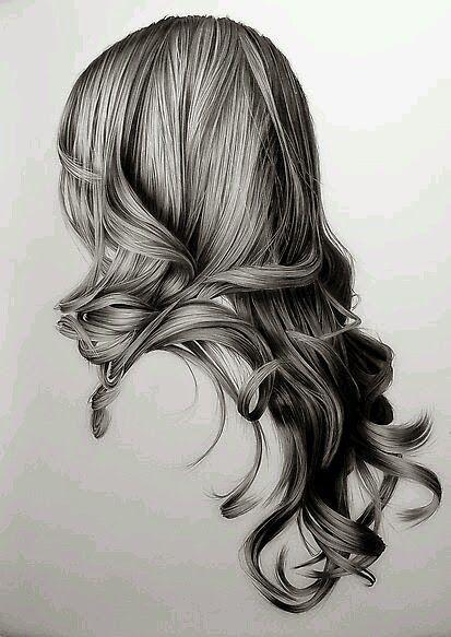Tem Tudo Da Amanda Desenhar Cabelo Realista Feminino Cabelo