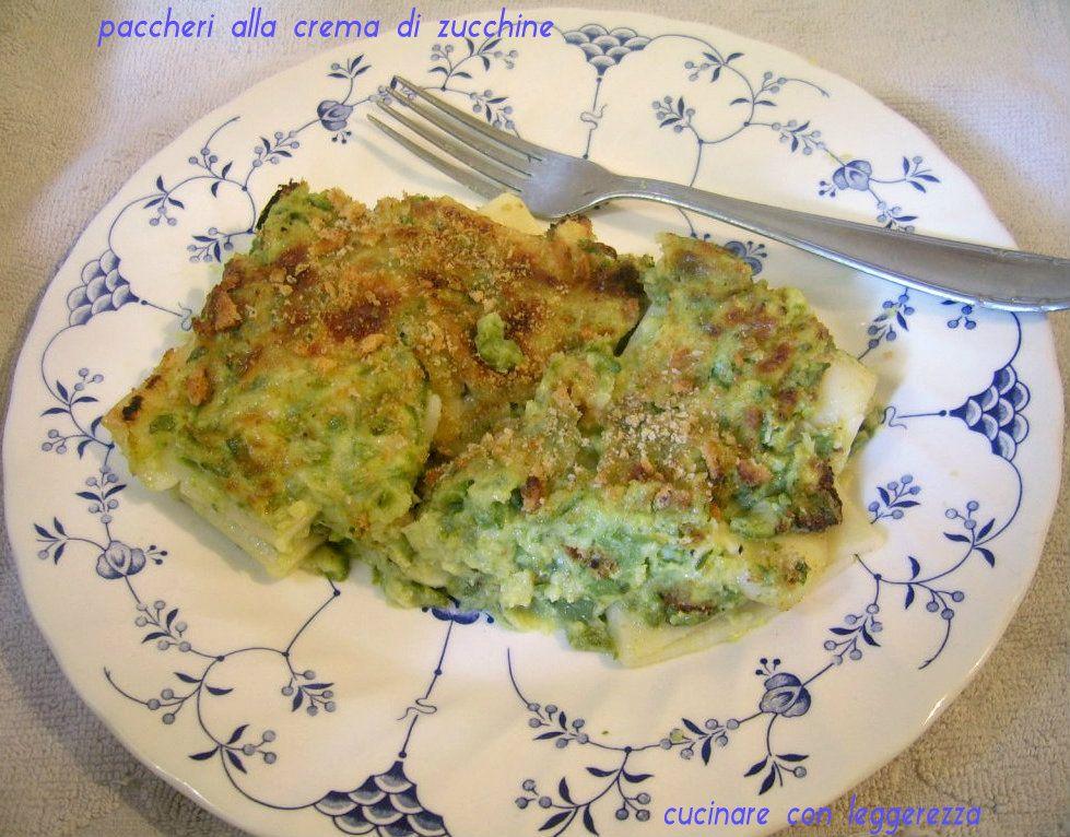 Paccheri alla crema di zucchine