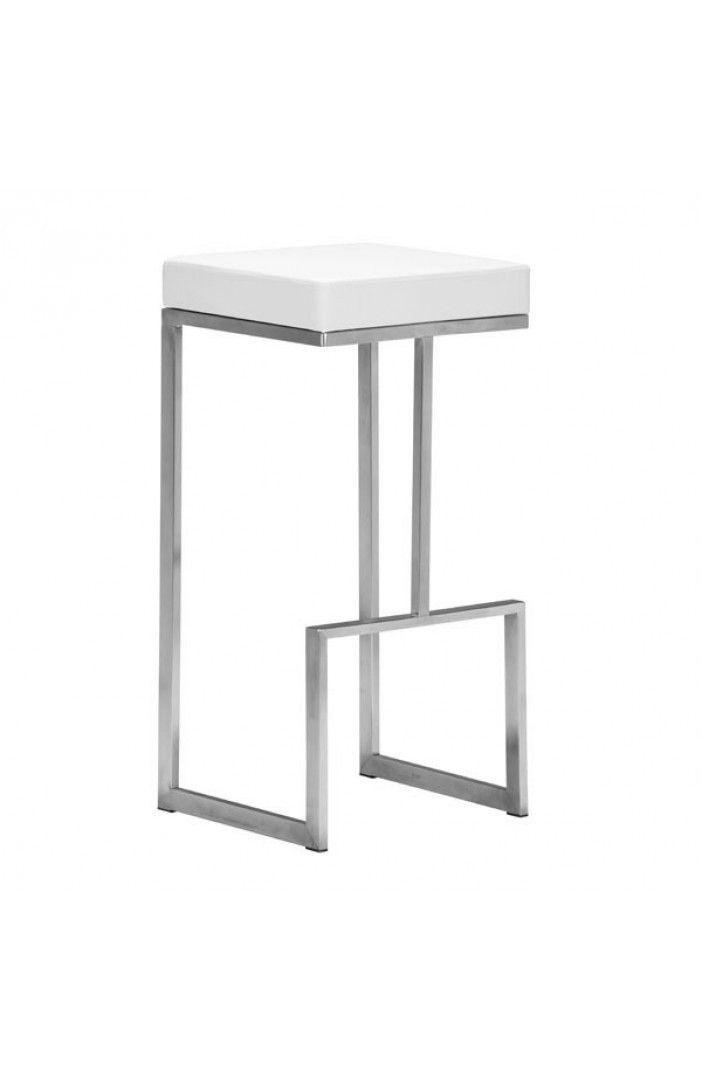 Zuo Mod Darwen Barstool White Modern Bar Stools Bar Chairs Stool