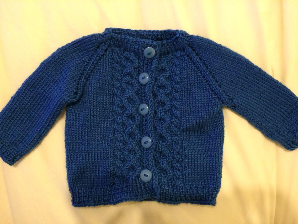 Baby knitting. Chaleco niño tejido dos palillos azul. | manteau ...