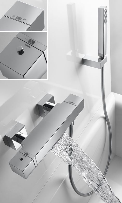 Thermostatic Tub Shower Faucet with Waterfall by Tres | For the Home ...