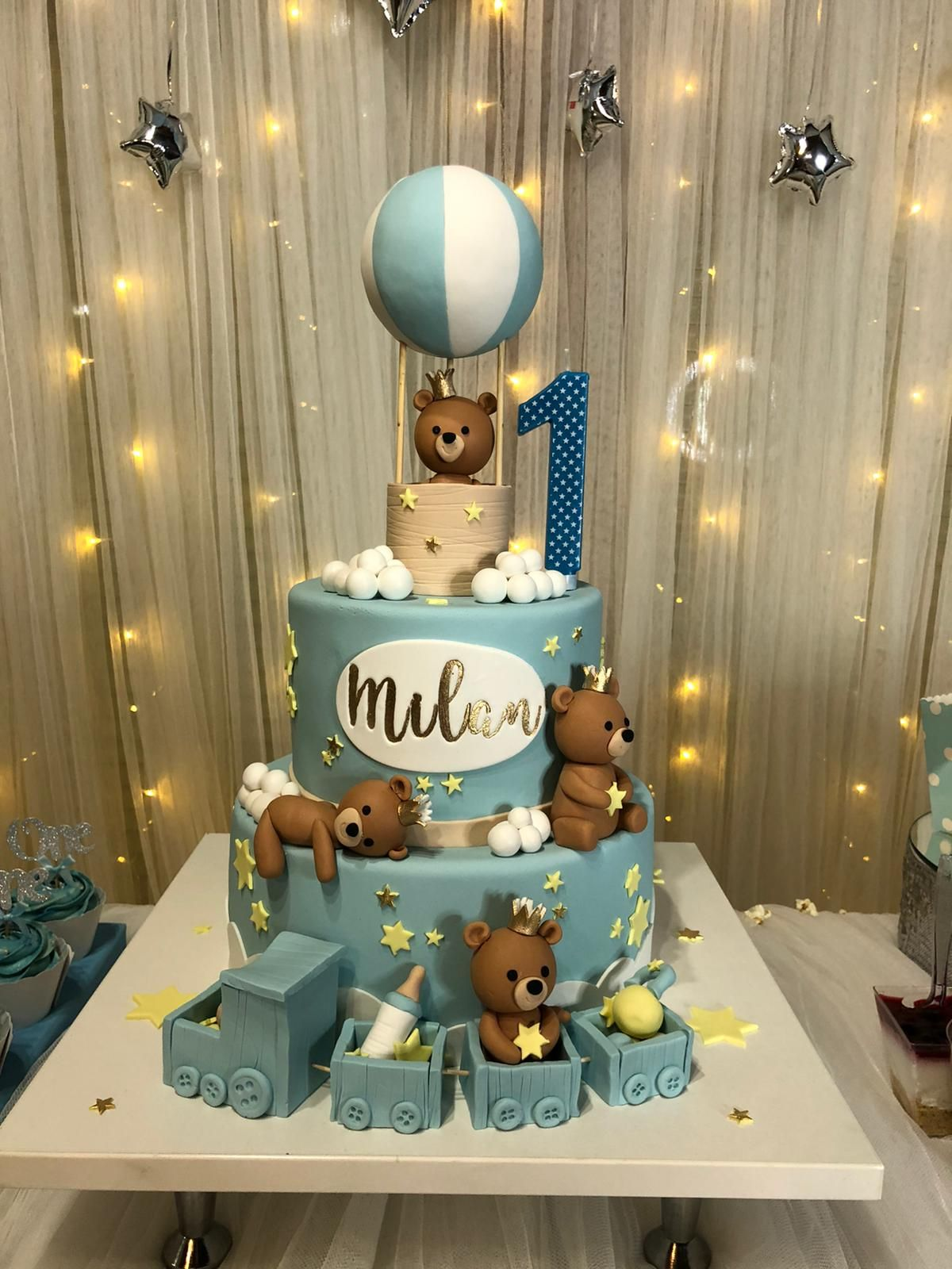 First Birthday In 2020 Baby Bear Birthday Party Boy Birthday Decorations Boys First Birthday Cake