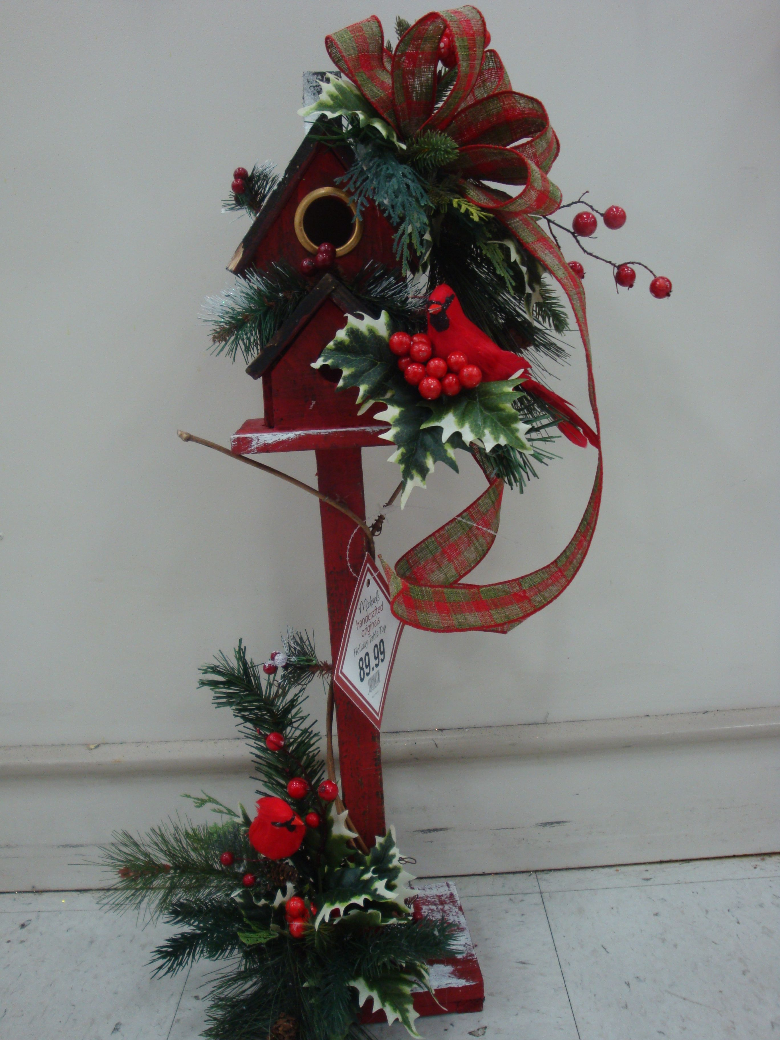 Christmas Birdhouse Designed By Christine Crowley For Michaels In Willowbrook,