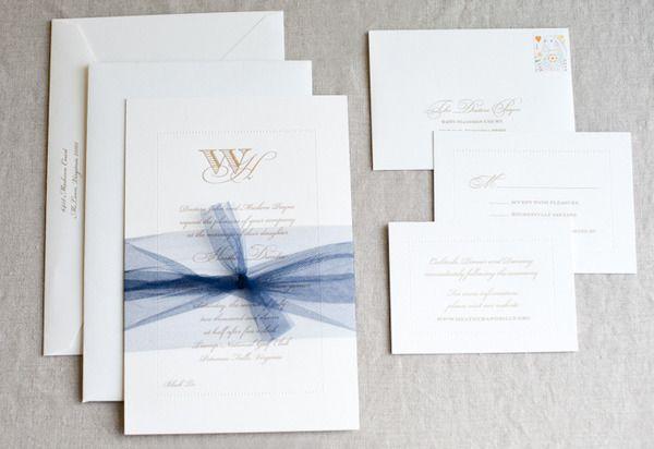 Washington D C Wedding By Kate Headley Wedding Invitation Ribbon Blue Wedding Invitations Diy Belly Band Wedding Invitations