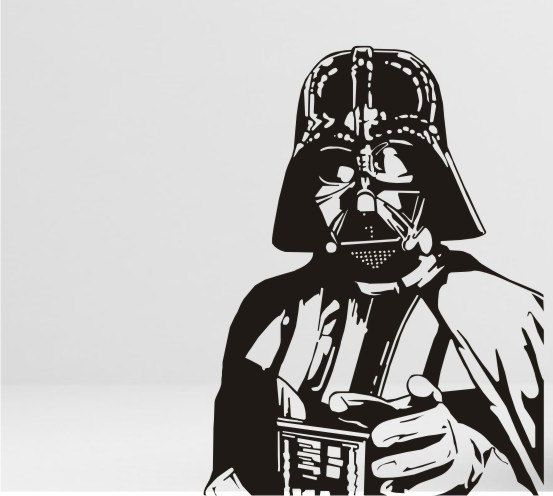 Darth vader vinyl wall decal sticker by circlewallart on etsy £12 99