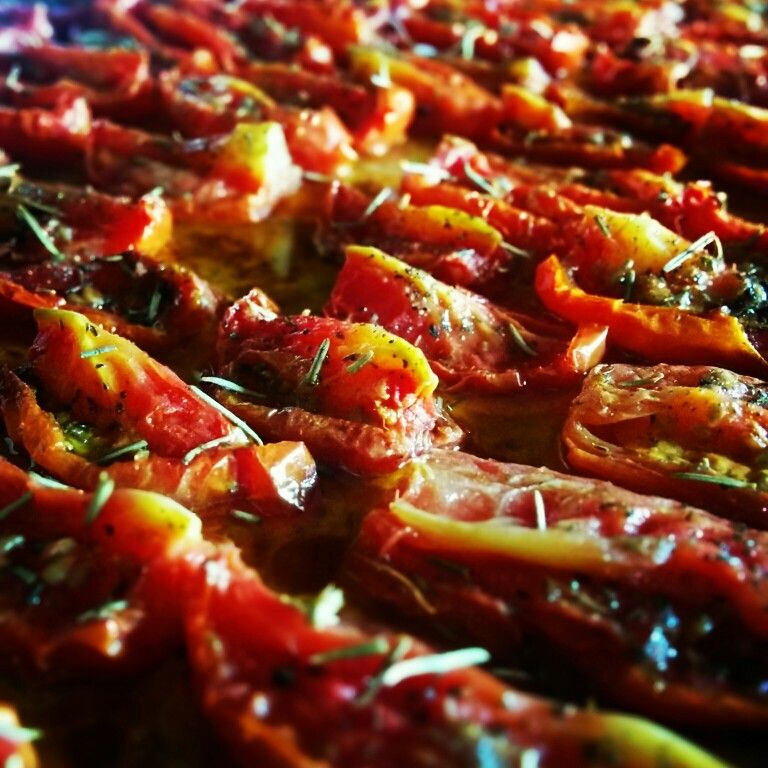 Tomates secos al horno.