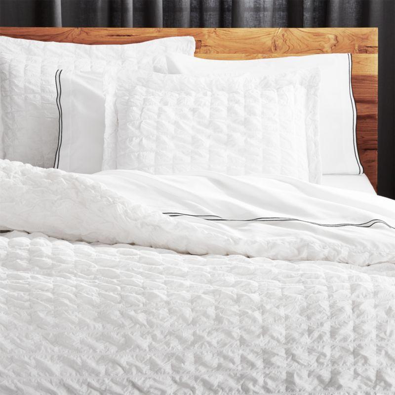 Shop Desi White Pintuck King Duvet Cover A Soft Cloud Of Hand