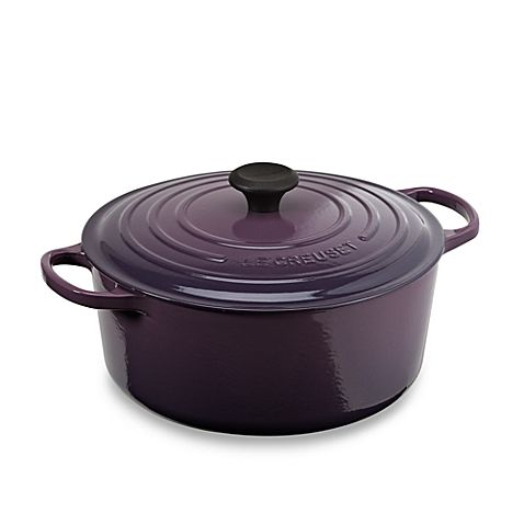 Le Creuset Signature Round Dutch Oven Bed Bath Beyond Purple Kitchen Le Creuset Cast Iron Cooking