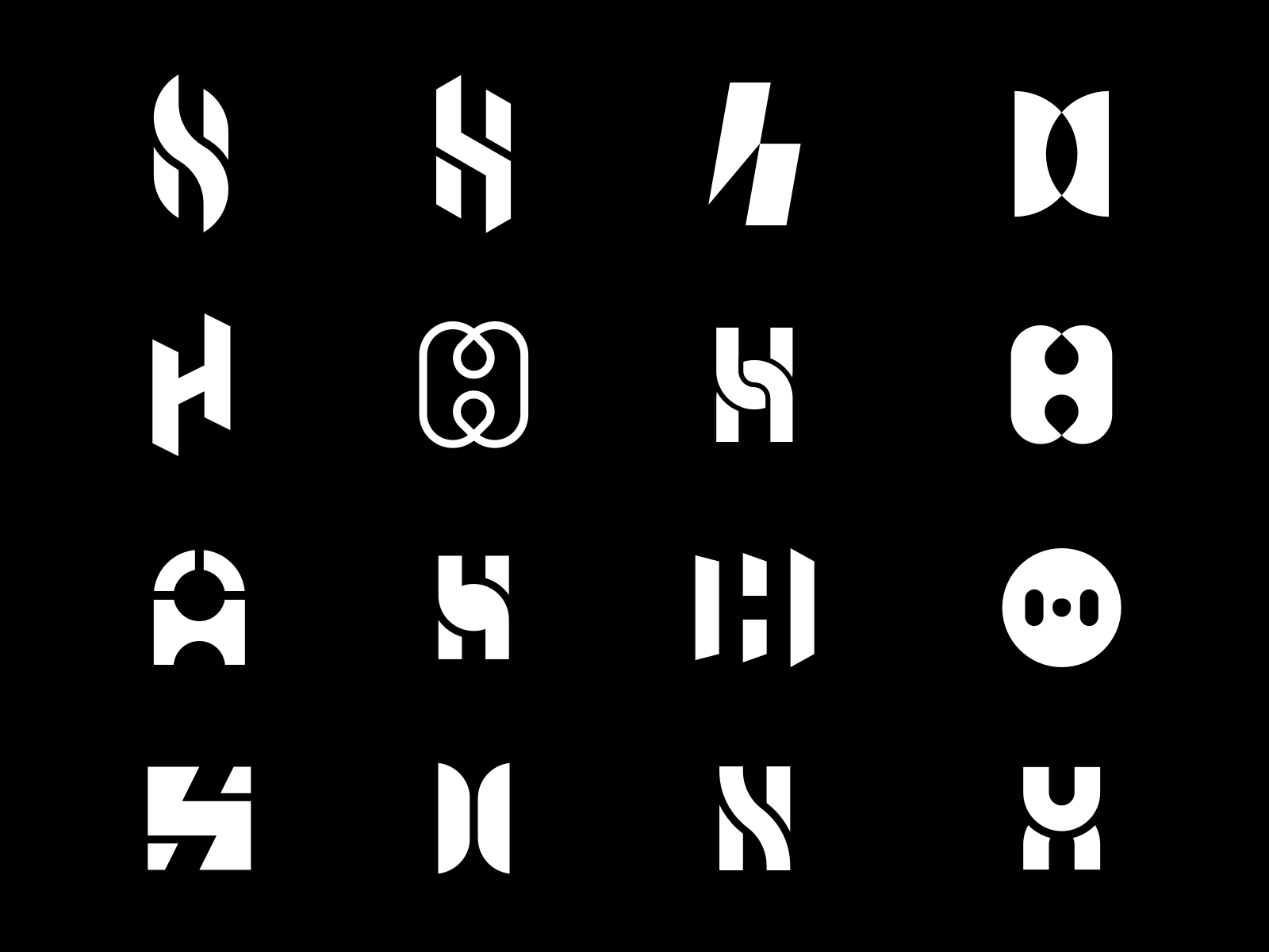 H Typographic Logo Design Typographic Logo Monogram Logo Design