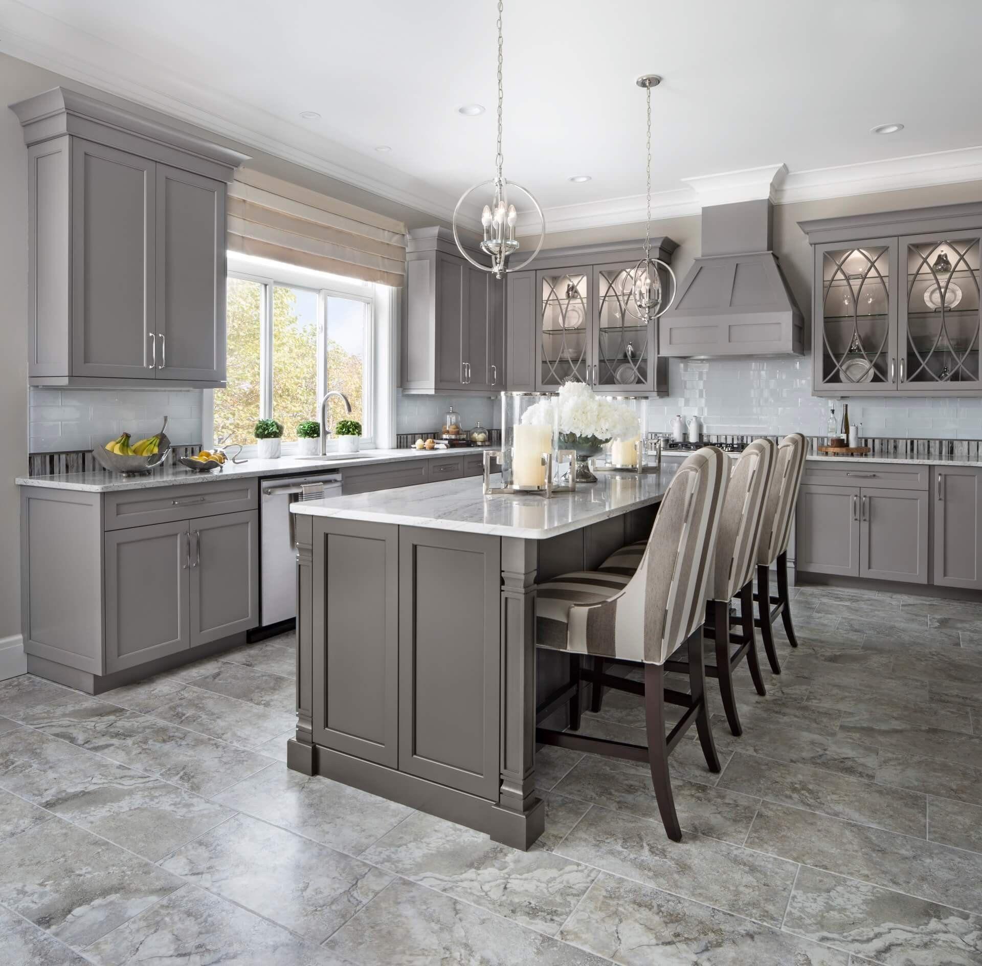 Brookhaven Ii Kitchen Grey Kitchen Designs White Kitchen Design Grey Kitchen Cabinets