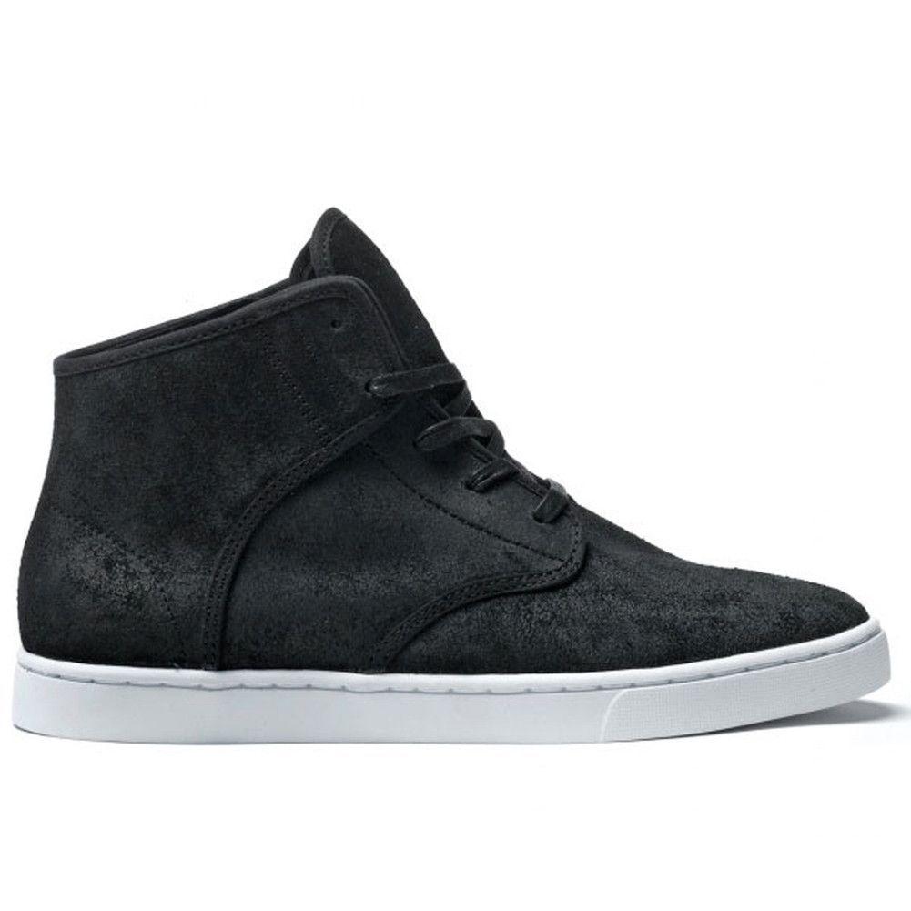 Kr3w - Grant Black Mid Top Sneakers