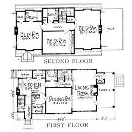 Comparing Two House Plans 1925 Vs 2014 Porch House Plans Cabin Floor Plans Cabin House Plans