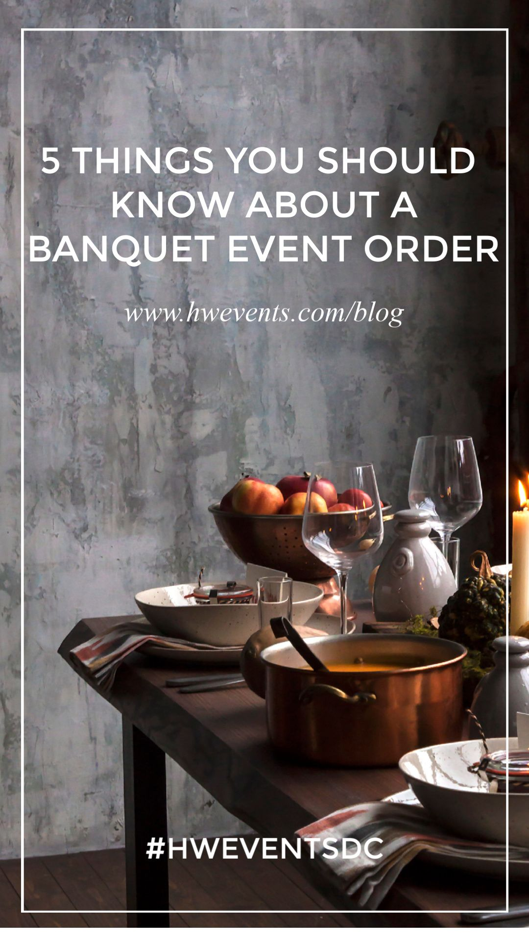 5 things you should know about a banquet event order