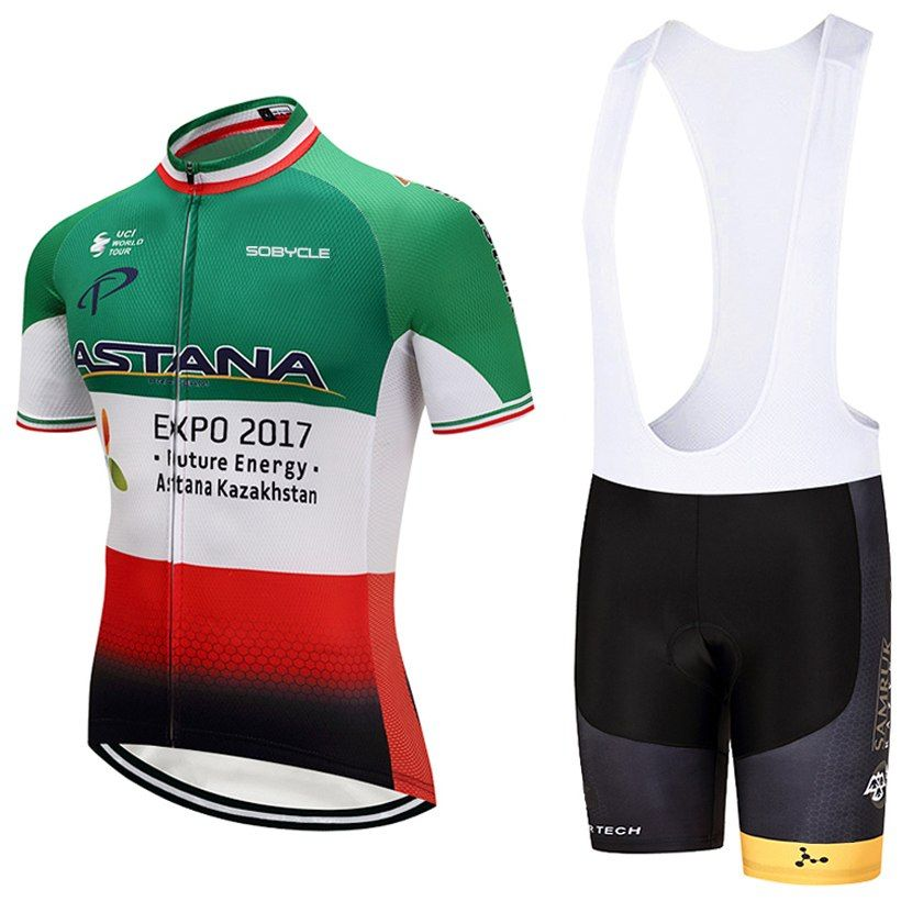 2018 TEAM ASTANA Cycling Pro Jersey Bike Shorts Set Quick Dry MTB Ropa  Ciclismo Cycling WEAR Mens BICYCLING Maillot Culotte ce34aa070