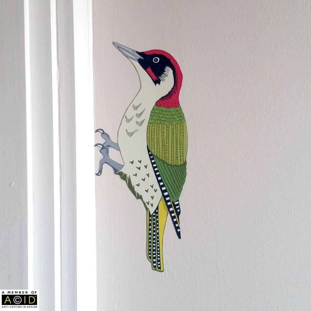 Woodland Nursery Woodpecker Wall Decal Wall decals, Wall