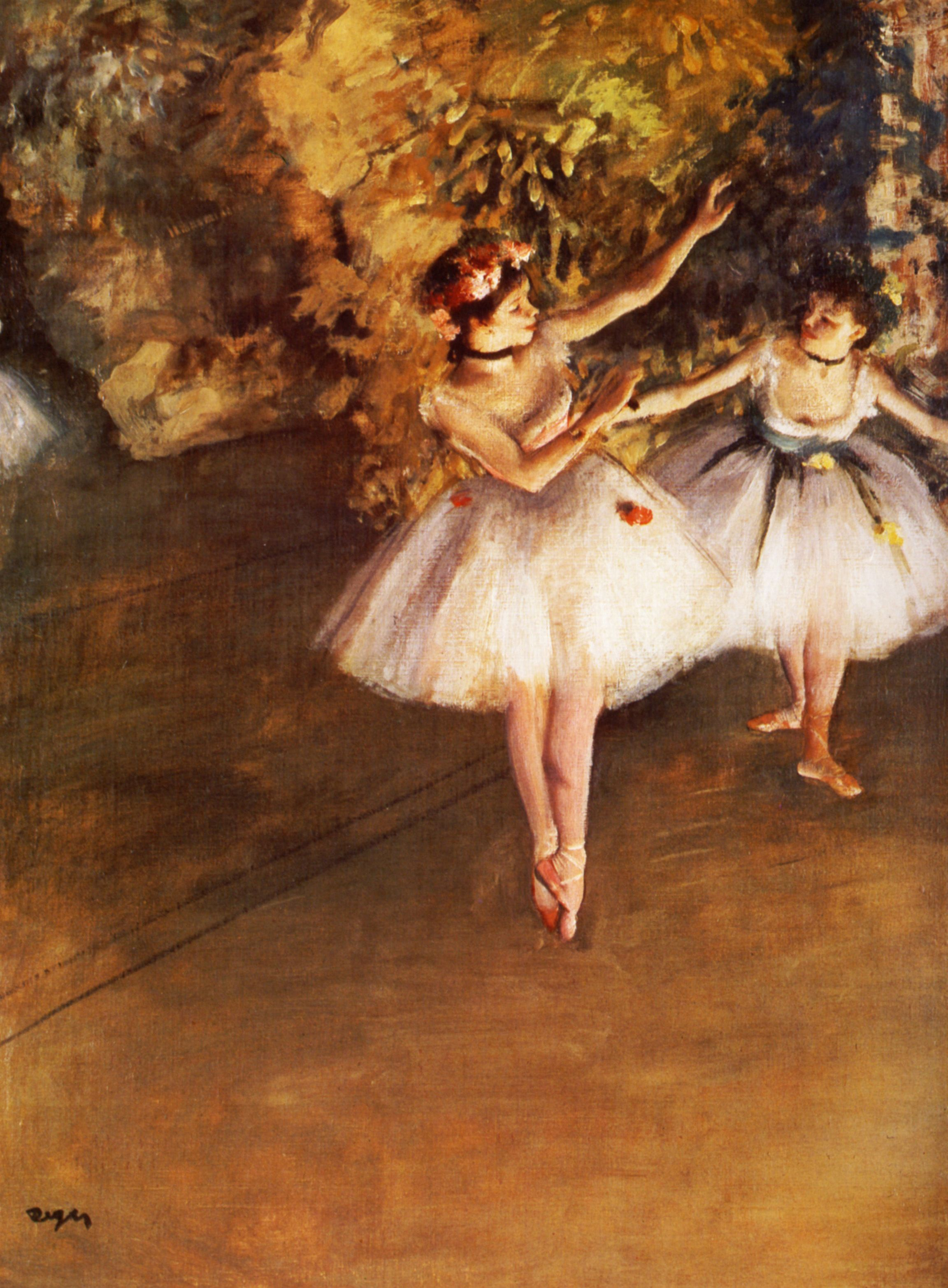 Two Dancers On Stage Edgar Degas Wikiart Org Degas Paintings Edgar Degas Degas Dancers
