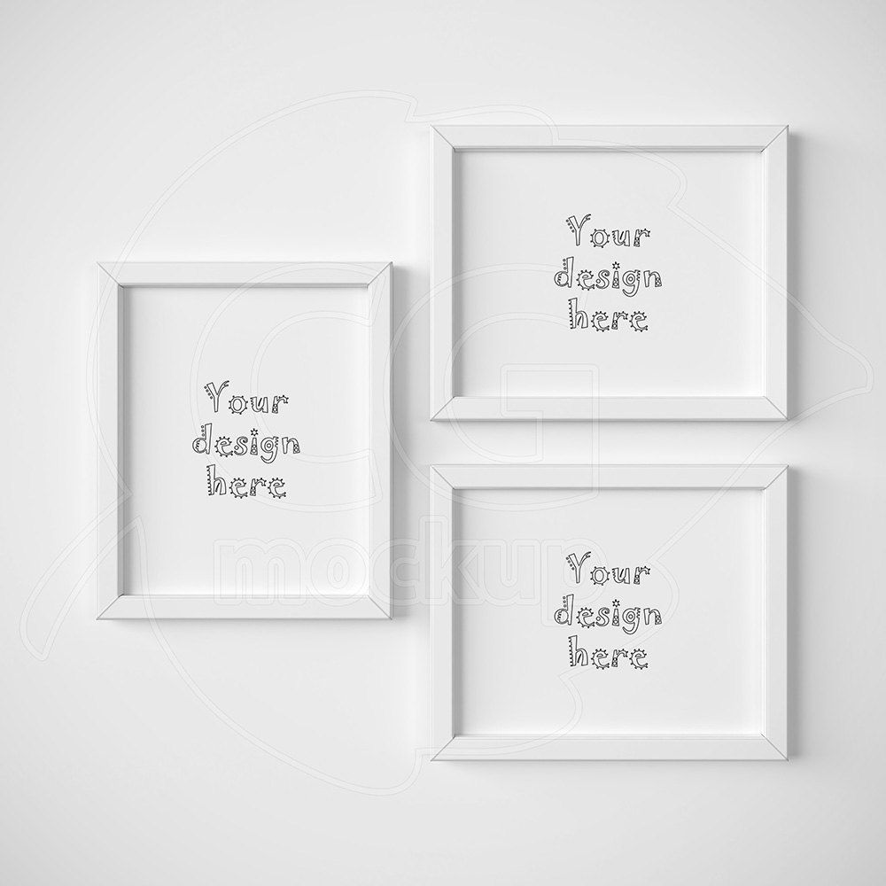 8x10 mockup white frame frame mockup set of three frames digital product mock up minimal frame styled stock mock ups framed art