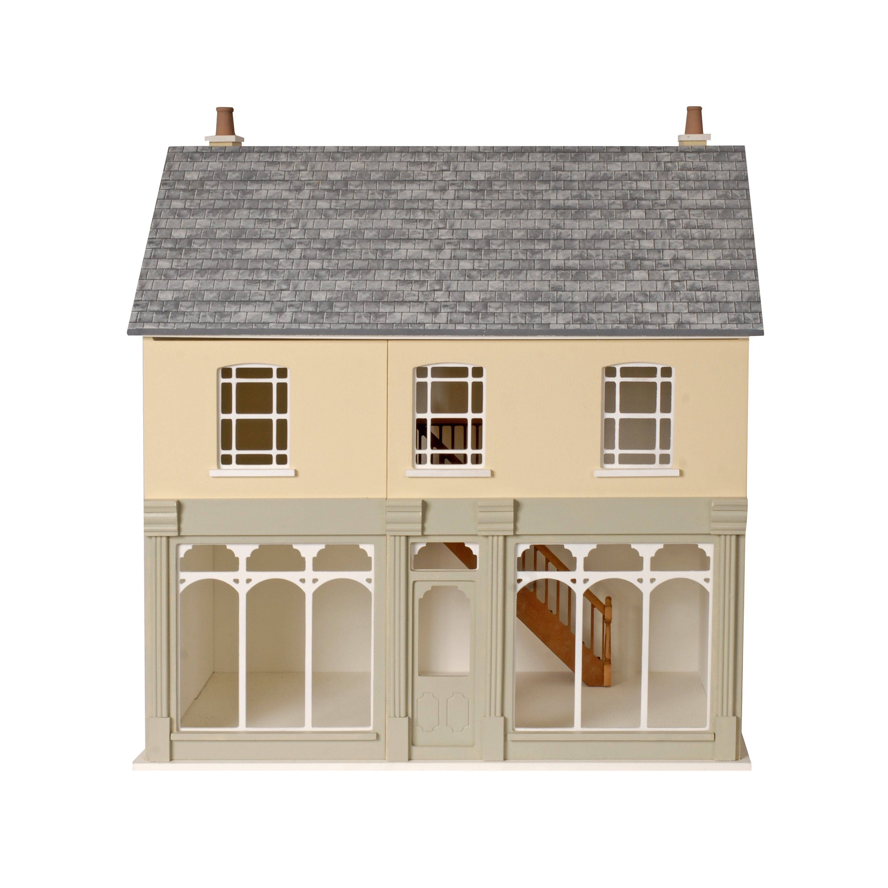 Melody Jane Dolls House 1:12 double fronted Boutique Ready Made Unfinished Wood