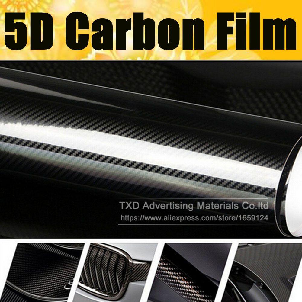 Super Quality Ultra Gloss 5d Carbon Fiber Vinyl Wrap 4d