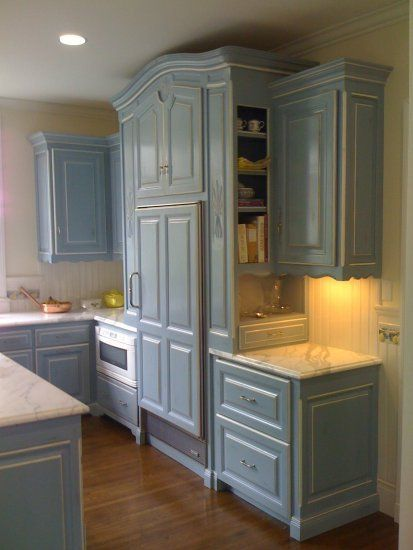French Blue Kitchen Cabinets Like Thispaint Color For Walls