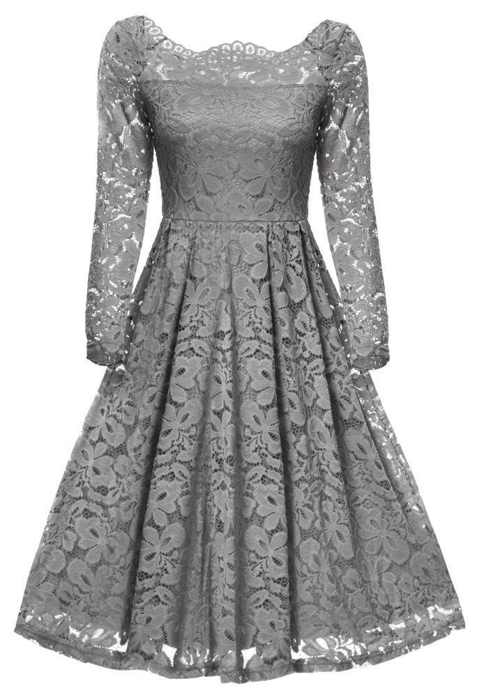 Gigileer Damen Kleid Vintage Cocktail Partei Hochzeit ...