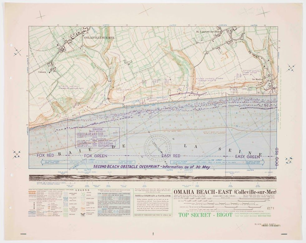 This Map Of Omaha Beach East Alerted The 1st And 29th Us Divisions - Omaha-on-us-map
