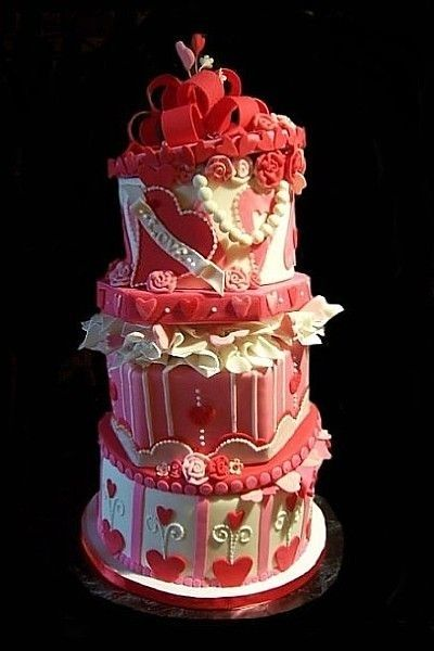 valentine+wedding+cakes | wedding cake wednesday – valentine's day, Ideas