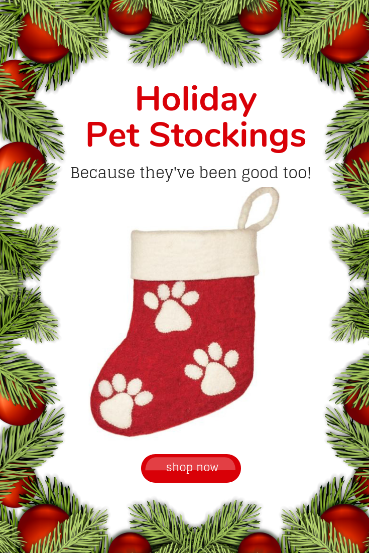 Paw Print Holiday Stocking - Wild Woolies (H)   Holiday