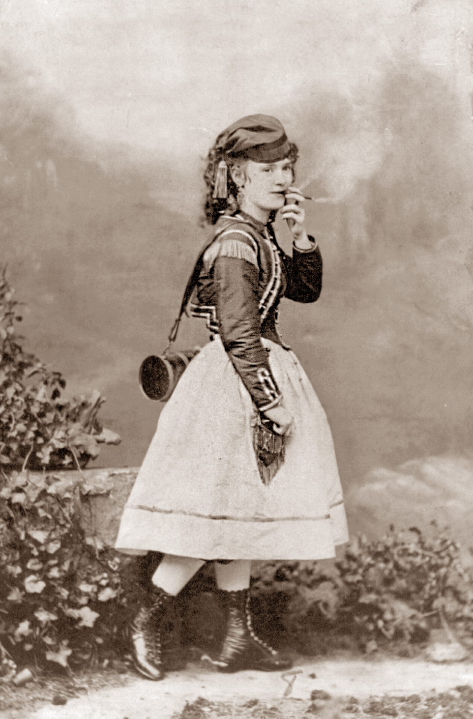 Actress Lotta Crabtree smoking, by Gurney, 1868 | Early Pictures