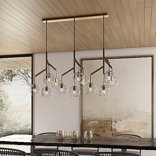 Sedona Linear Suspension Chandelier Shades Tech Lighting