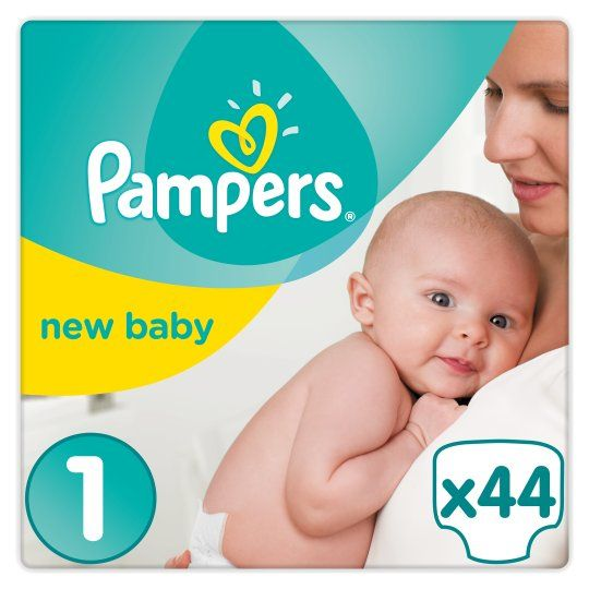 Newborn Babies 2-5 Kg Pampers New Baby 96 Nappies Size 1