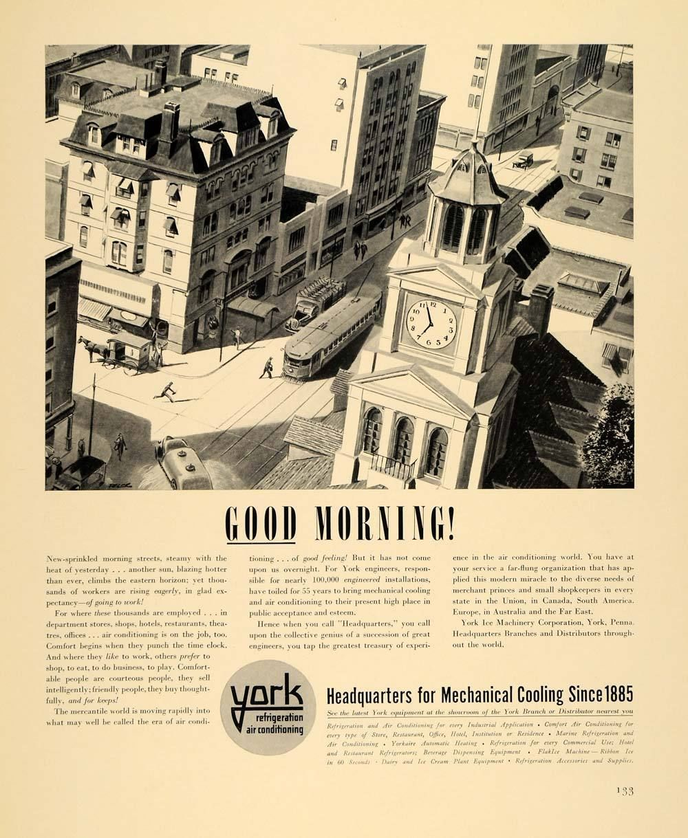 1940 Ad York Ice Machinery Air Conditioning City
