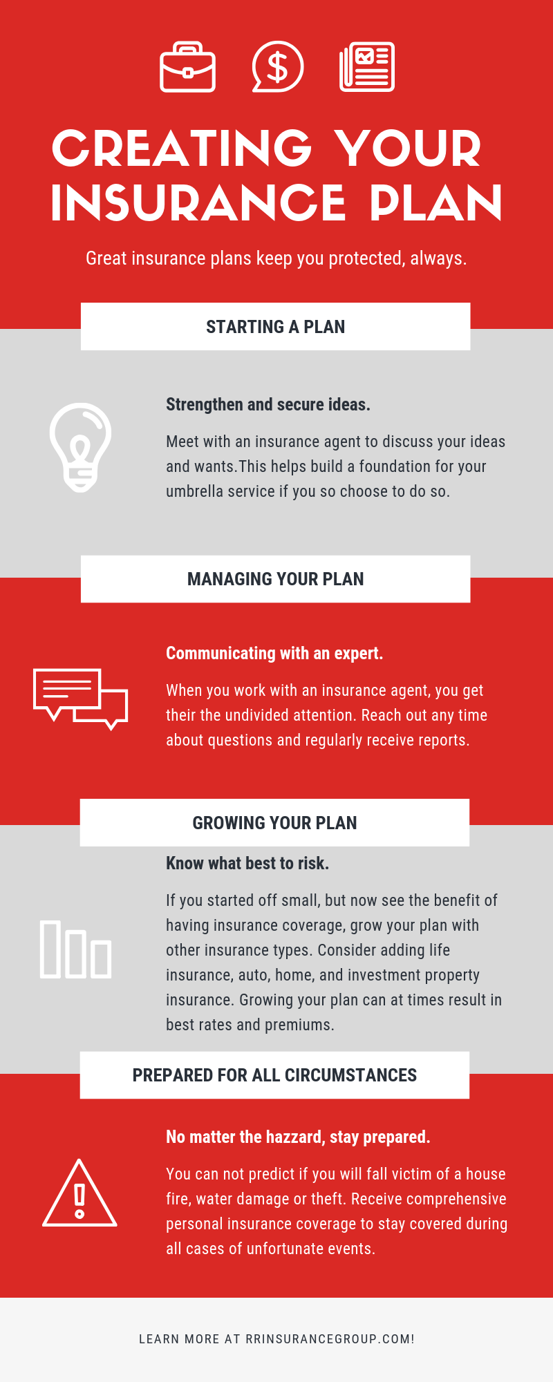 Creating Your Insurance Plan Infographic Risk Management