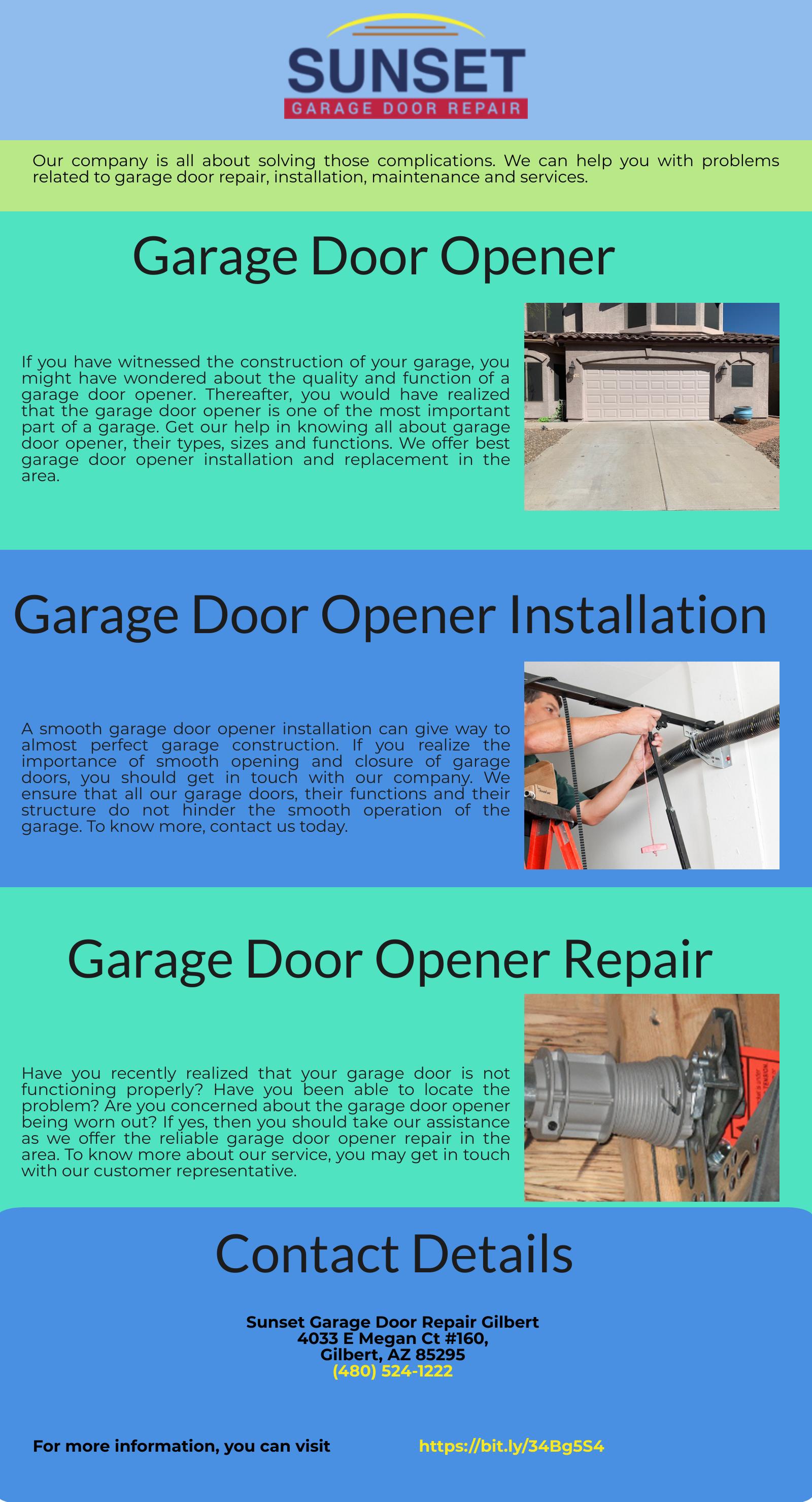 Garage Door Opener Services Gilbert Az 85233 In 2020 Garage Door Opener Installation Garage Doors Garage Door Opener