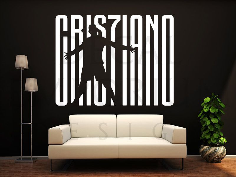 Cristiano Ronaldo Juventus Portugal Soccer Football Wall Decal Kids Boy Girl Room 0099s By Decalemporiumdesign On Et Soccer Room Football Wall Kids Wall Decals Latest juventus room paint color