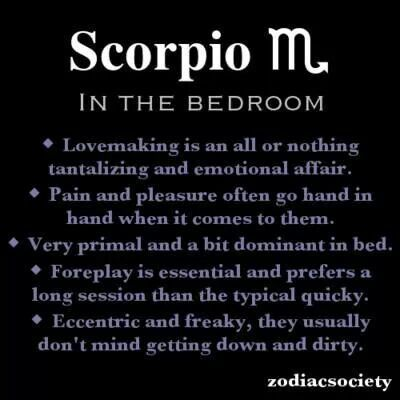 Scorpio male and scorpio female in bed