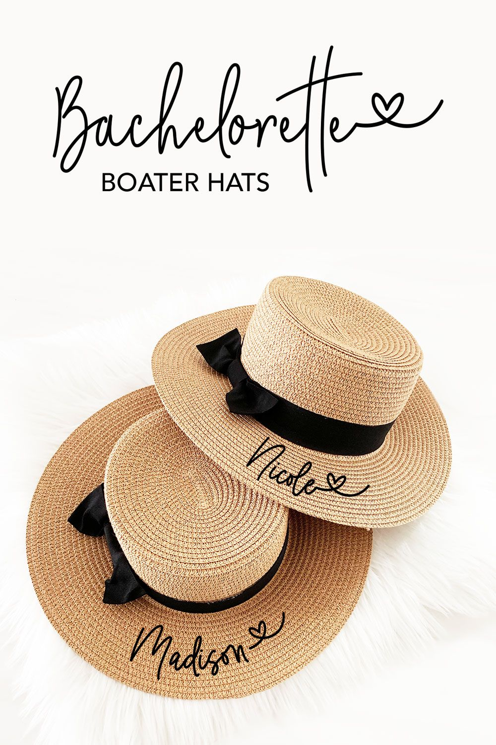 Personalized Boater Hats Beach Bachelorette Party Outfit Bachelorette Party Hat Bachelorette Party Planning