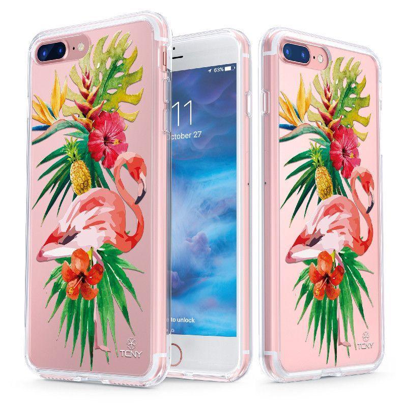 Tropical Flamingo Slim Protective Case for iPhone 7 Plus