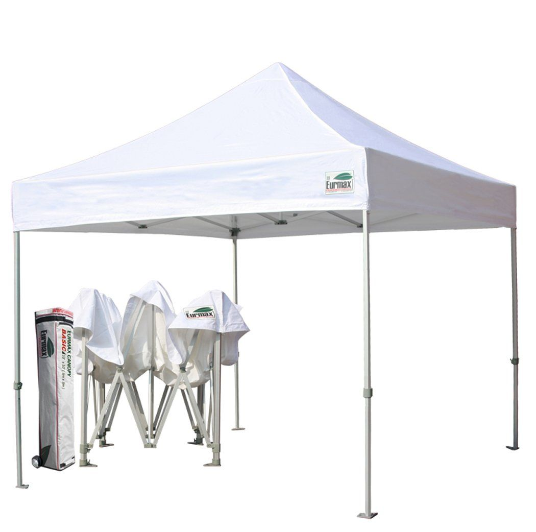 eurmax basic 10x10 pop up canopy instant tent outdoor party gazebo commercial level