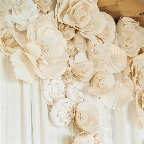 Paper flower backdrop wedding favors ideas pinterest paper 15 cool ways to rock paper flowers at your wedding flower reception backdrop mightylinksfo Gallery