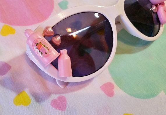 White retro sunglasses Barbie cateye adult by missalphabet on Etsy